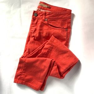 Prana // Red Extra Stretchy Skinny Jeans 2
